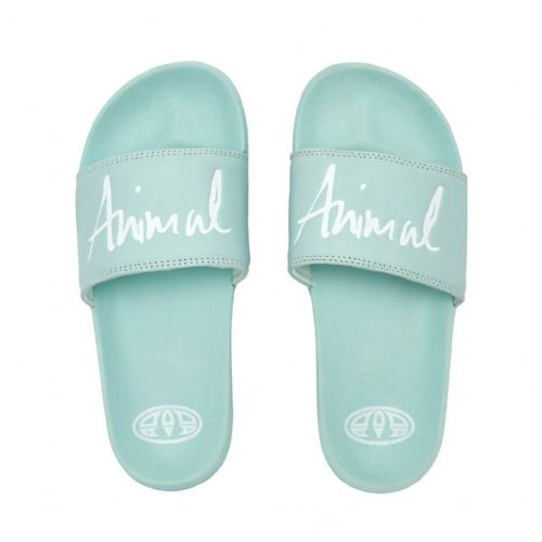 ANIMAL WOMENS SLIDERS.PINKIE MINT GREEN SLYDES SLIP ON FLIP FLOPS SANDALS S20 3